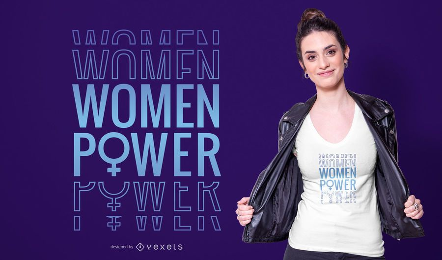 Frauen-Power-T-Shirt-Design