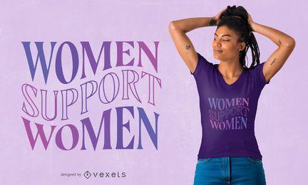 Diseño de camiseta de apoyo a las mujeres.