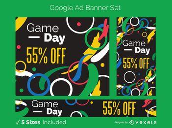Conjunto de banner de anúncio do Google nos Jogos Olímpicos