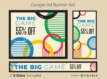 Conjunto de banners de anúncios dos Jogos Olímpicos