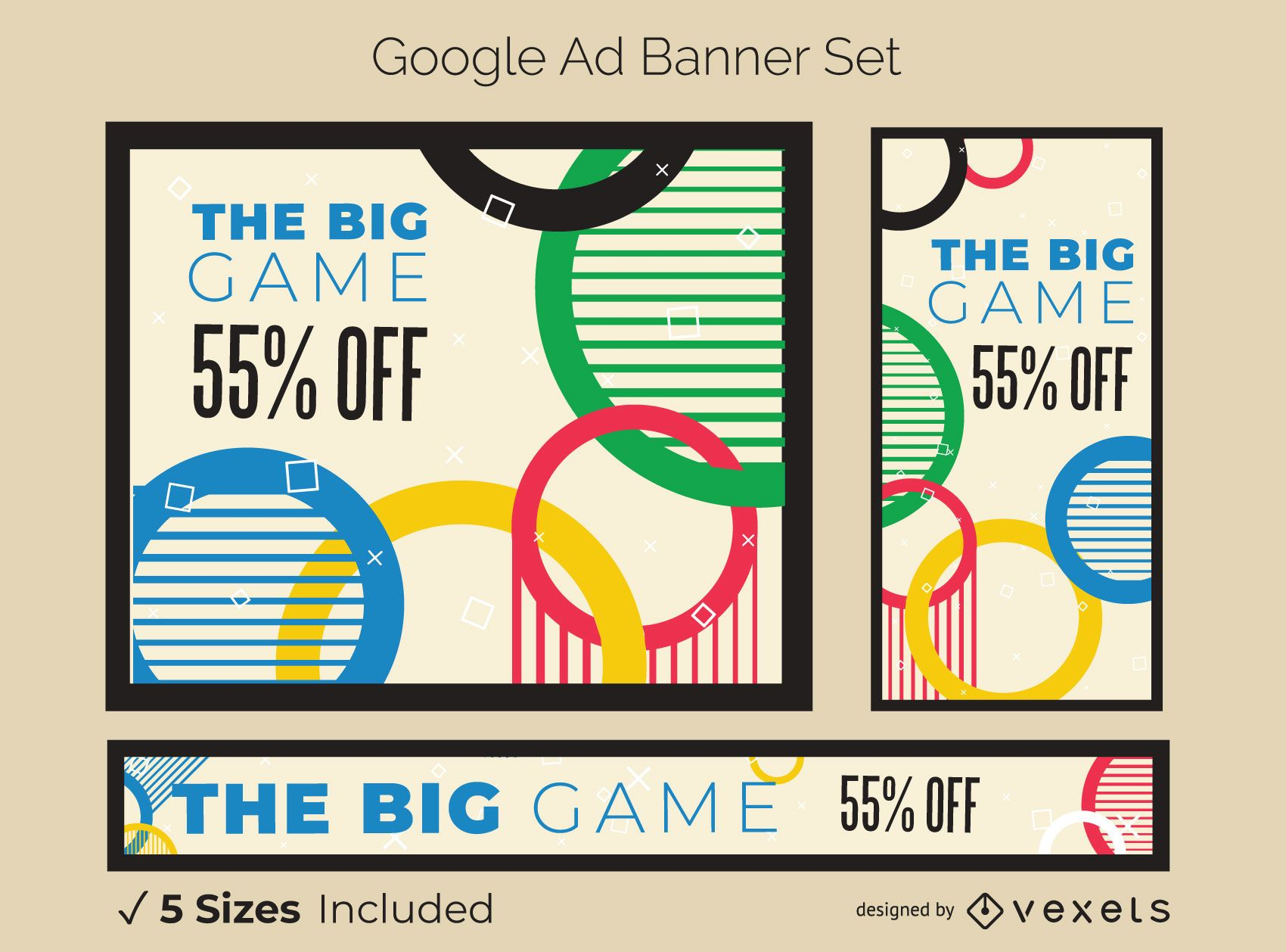 Olympic Games Ad Banner Set