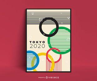 Cartaz de design dos Jogos Olímpicos