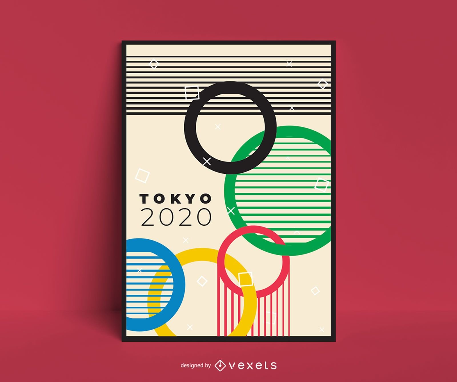 Cartel de diseño de juegos olímpicos