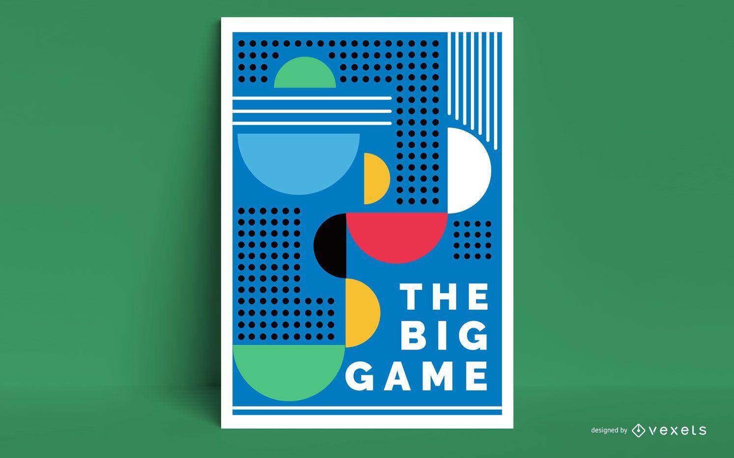 Diseño de cartel artístico de Tokio 2020