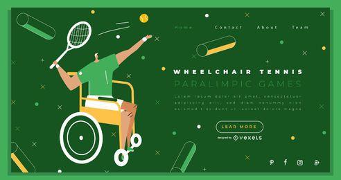 Diseño de la página de destino de los Juegos Paralímpicos de tenis