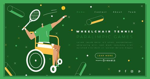 Tennis Paralympics Landing Page Design
