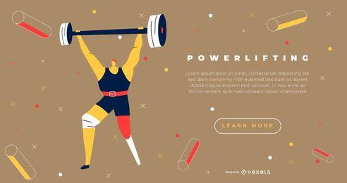 Diseño de página de aterrizaje de deportes paralímpicos levantador de pesas