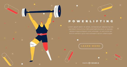 Paralympics Weightlifter Sport Landing Page Design