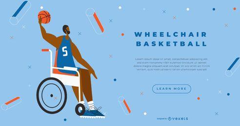 Página de destino do basquete em cadeira de rodas