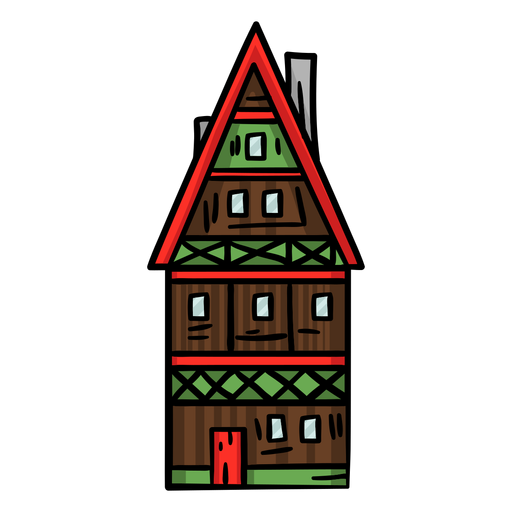 Colored house germany Transparent PNG
