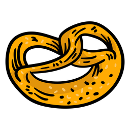 Colored pretzel twisted