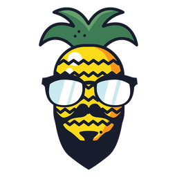 Coole Hipster-Ananas