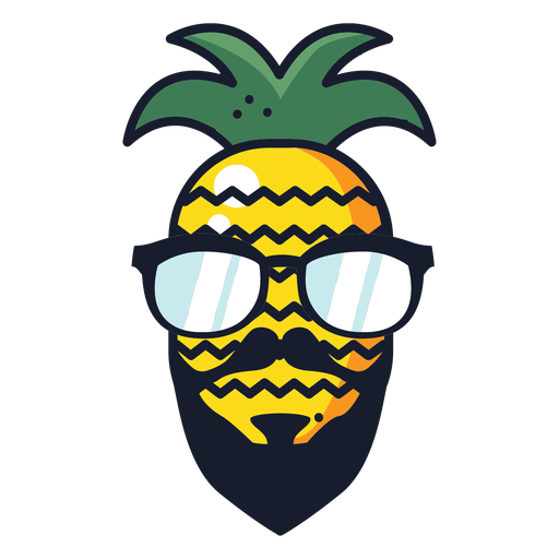 Cool hipster pineapple Transparent PNG