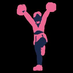 Cute cheerleader silhouette