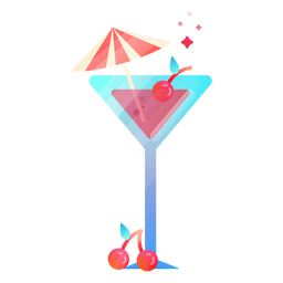Cute cocktail illustration