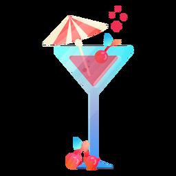 Cute cocktail illustration