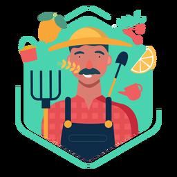 Elementos de carácter lindo agricultor