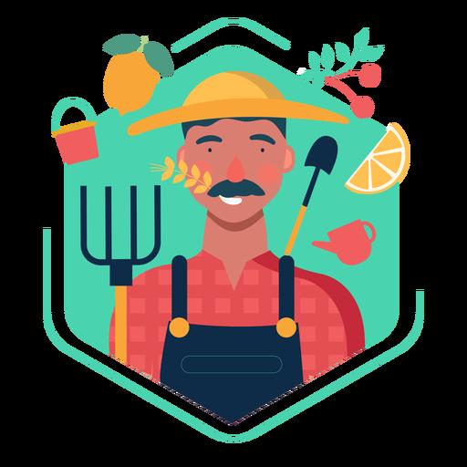 Cute farmer character elements