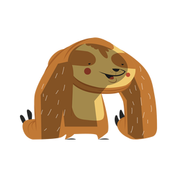 Cute lazy sloth