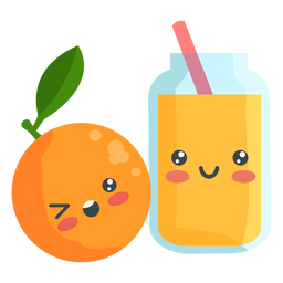 Cute orange juice