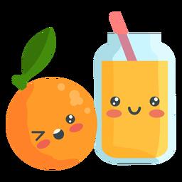 Suco de laranja fofo