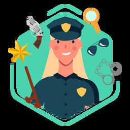 Nette Elemente der Polizistin