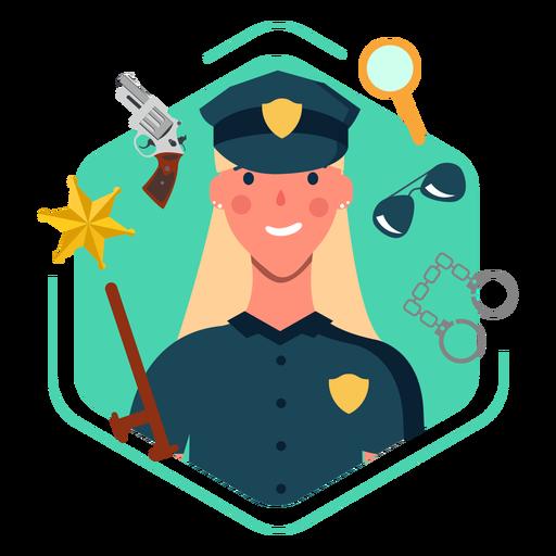 Cute policewoman elements