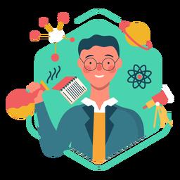 Netter Wissenschaftlercharakter