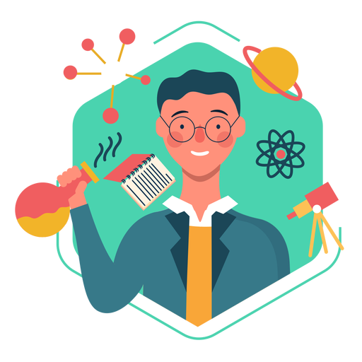 cute scientist character transparent png svg vector file transparent png svg vector file