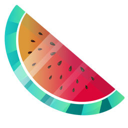 Cute watermelon illustration