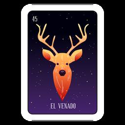 Cartão de loteria cabeça de veado