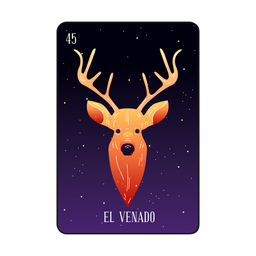 Deer head loteria card