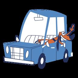 Cachorro em um carro