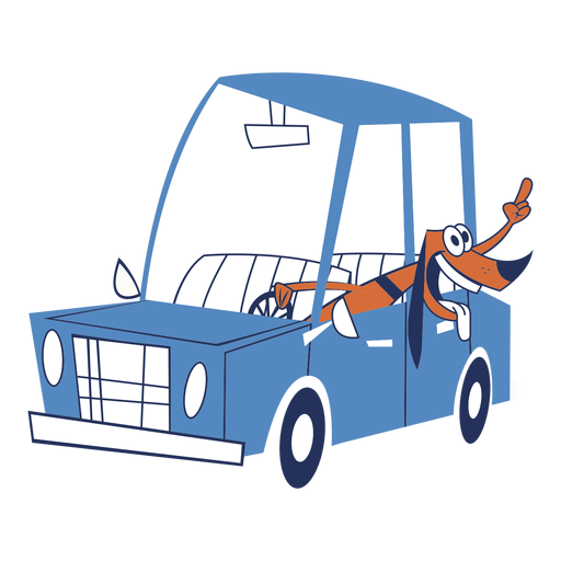 Dog in a car Transparent PNG