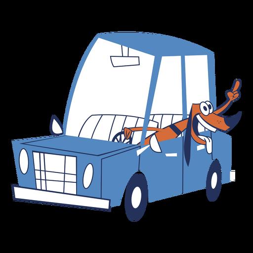 Perro en un coche Transparent PNG