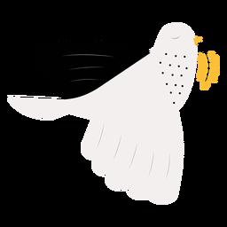Paloma con hojas de paz