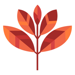 Papercut de cinco folhas
