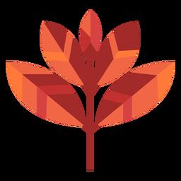 Papercut de cinco hojas