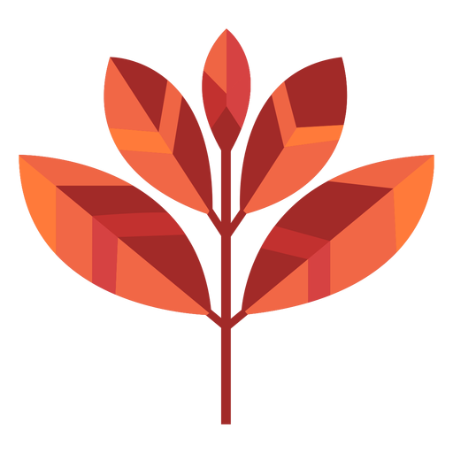 Five leaves papercut Transparent PNG