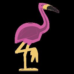 Flamingo de pie con una pierna