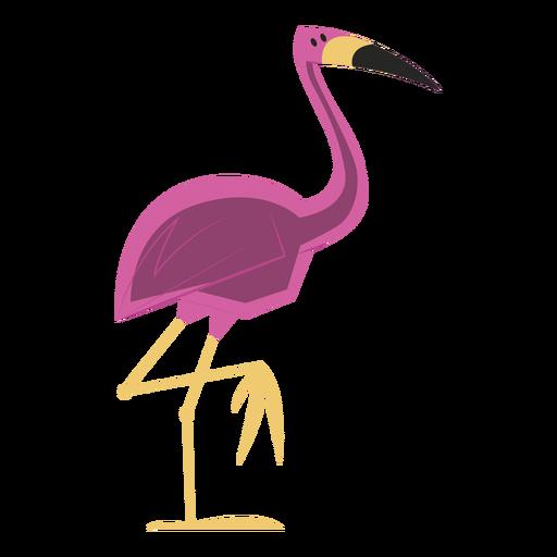 Flamingo de pie con una pierna Transparent PNG