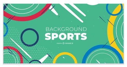 Página de destino abstrata dos Jogos Olímpicos