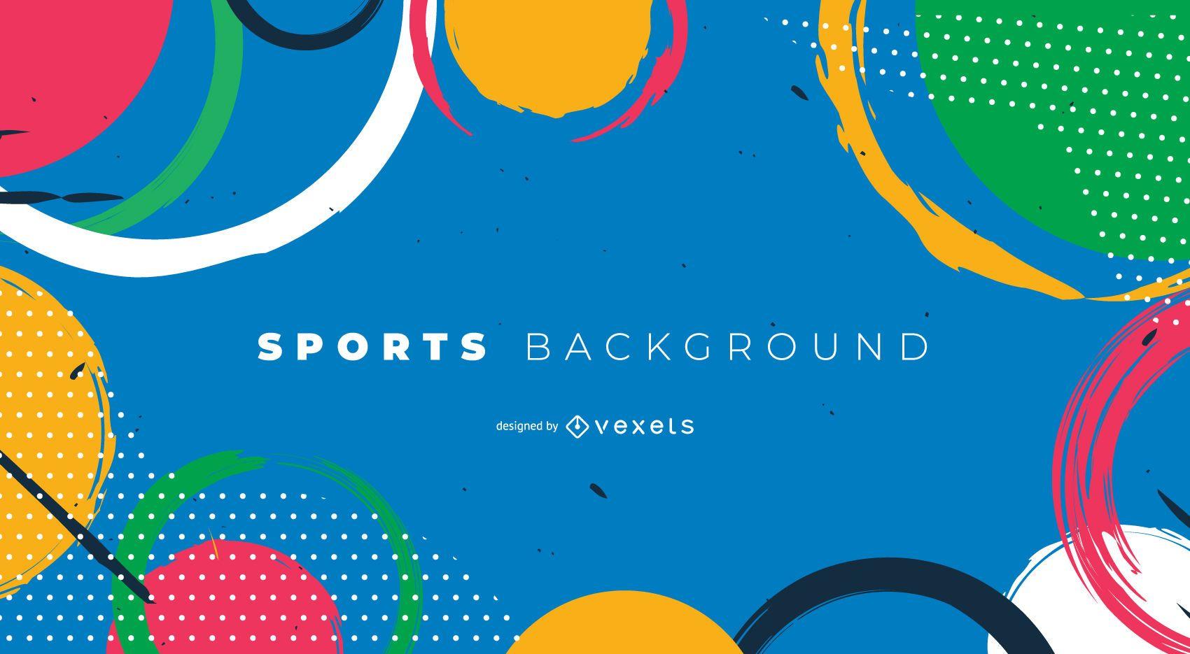 Plantilla de fondo abstracto de los Juegos Olímpicos