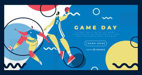 Plantilla de página de aterrizaje de deportes olímpicos
