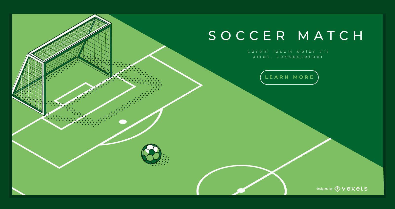 Modelo de página de destino de campo de futebol
