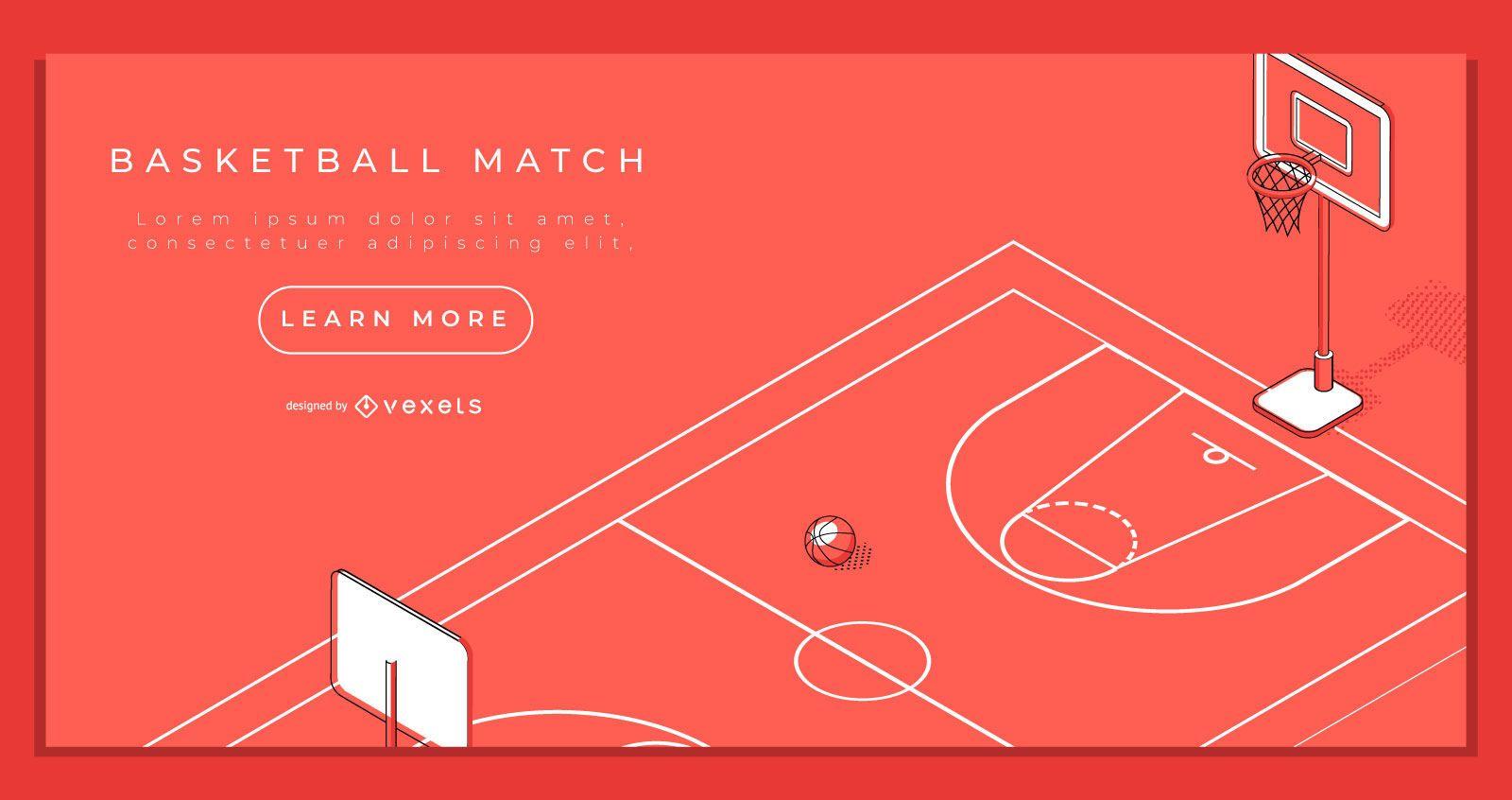 Modelo de página de destino de basquete
