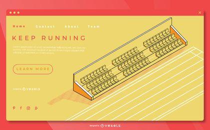 Plantilla de página de aterrizaje de atletismo