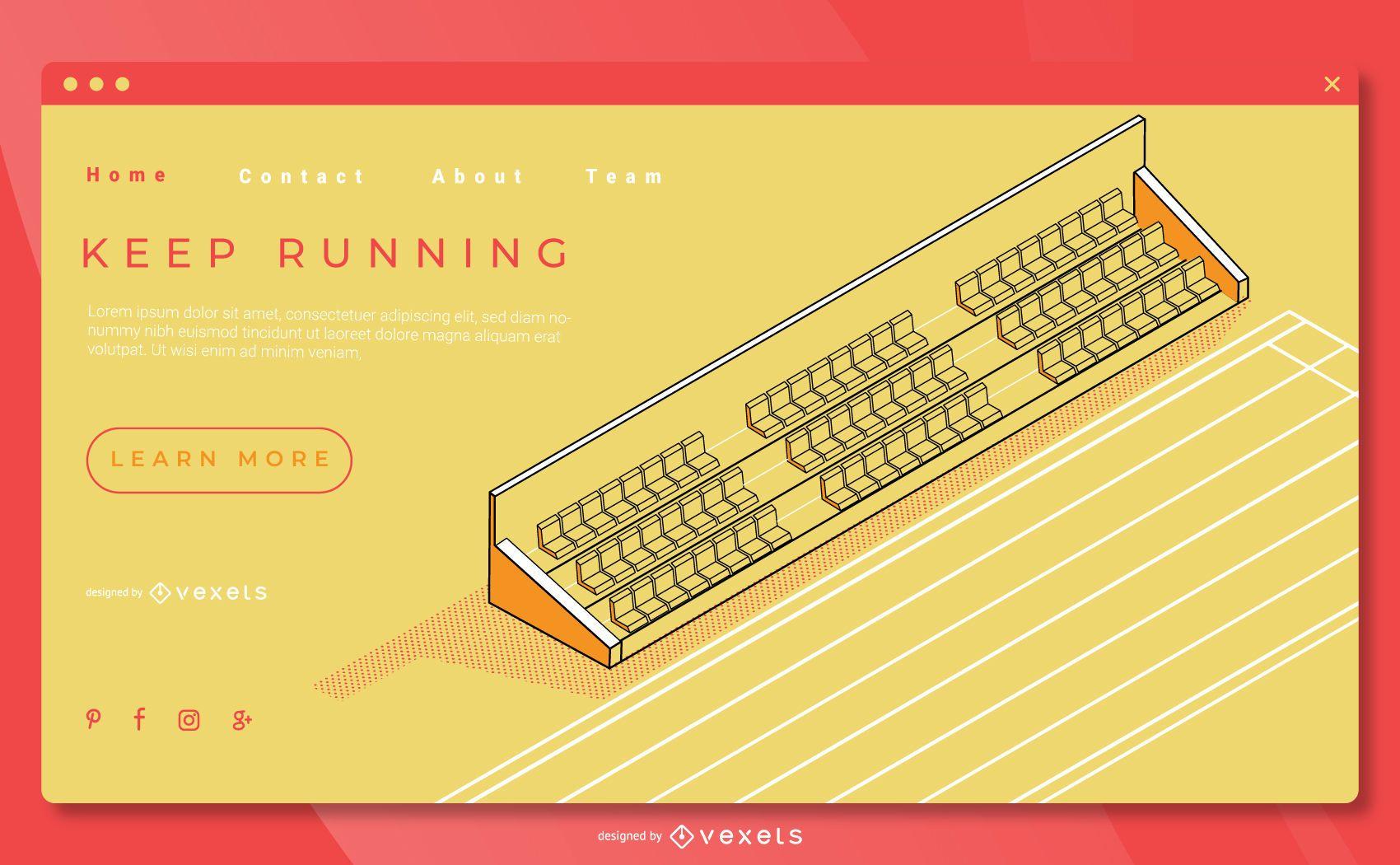 Plantilla de página de destino de atletismo