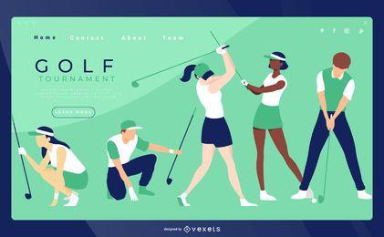 Plantilla de página de aterrizaje de golf