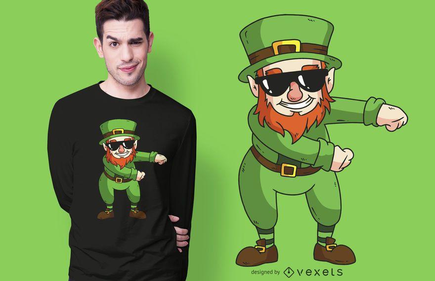 Leprechaun floss t-shirt design